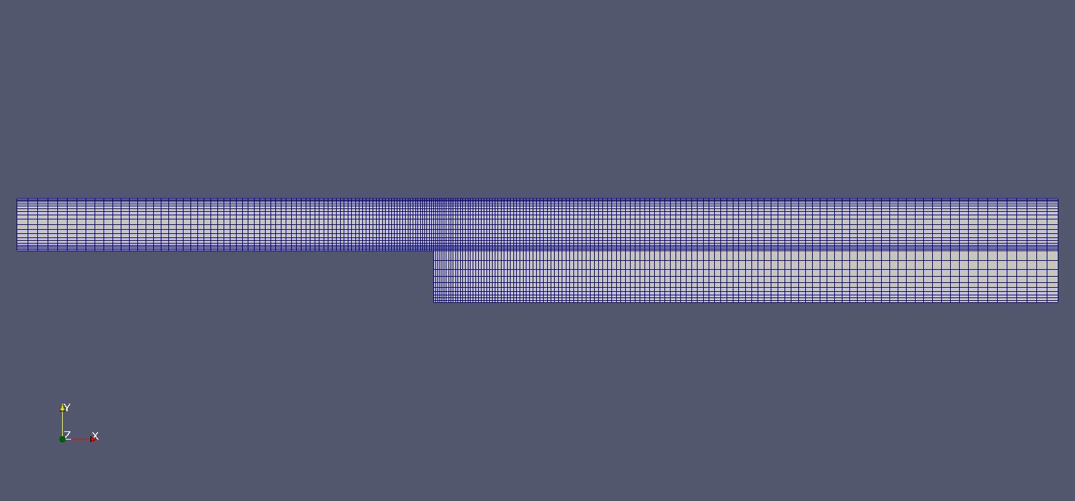 OpenFoam Simulation of Flow through a Backward Facing Step