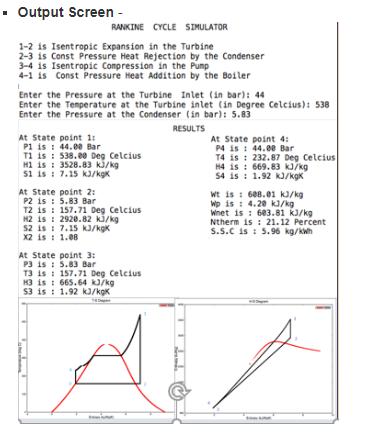 Rankine cycle simulator in Matlab - Projects - Skill-Lync