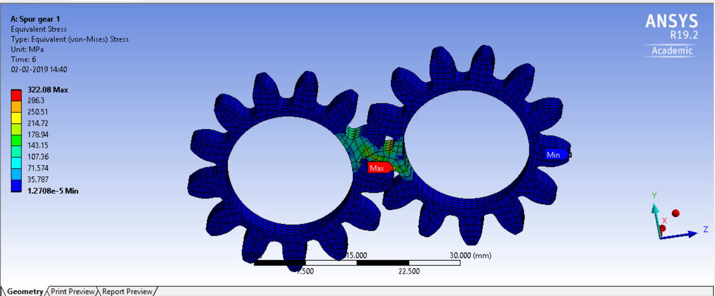 Structural Analysis of Spur gear in Ansys Workbench