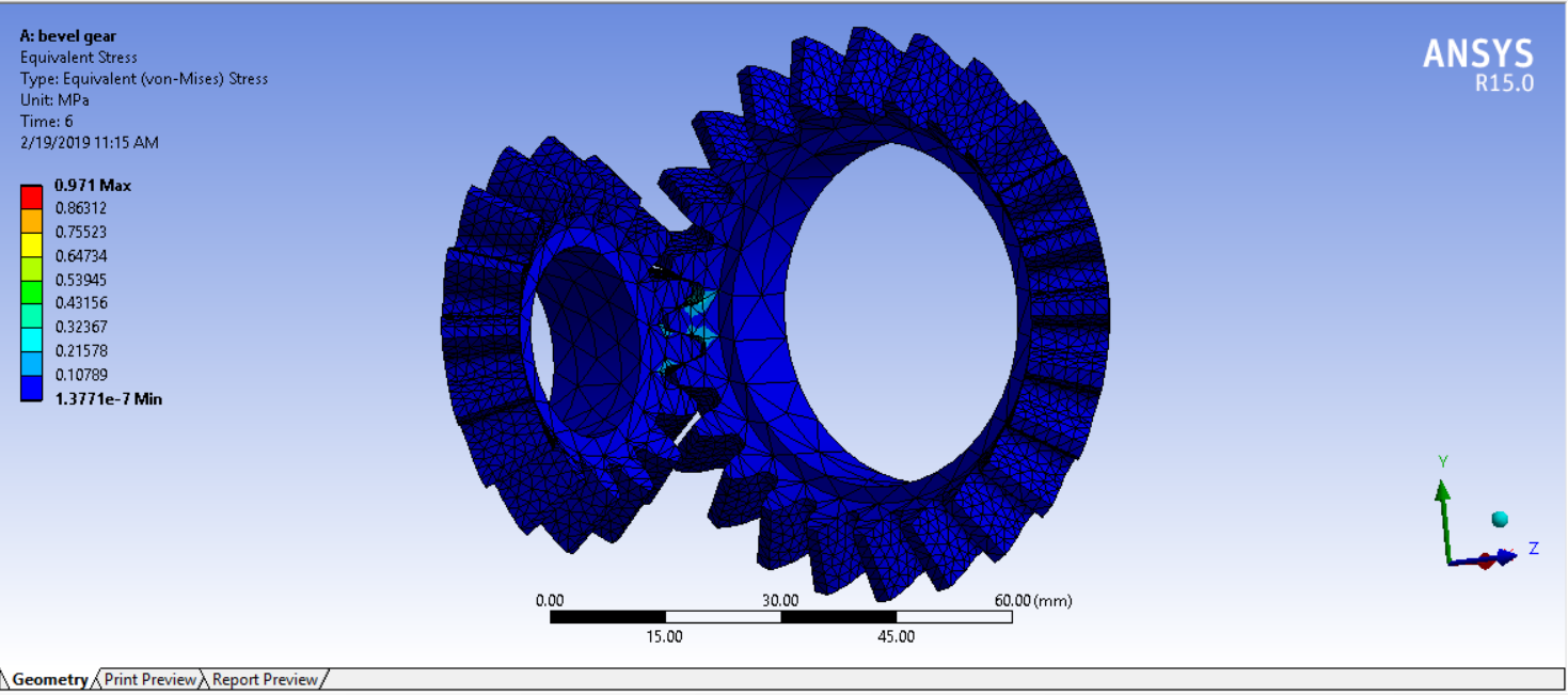 Structural Analysis of Bevel Gear in Ansys Workbench - Projects
