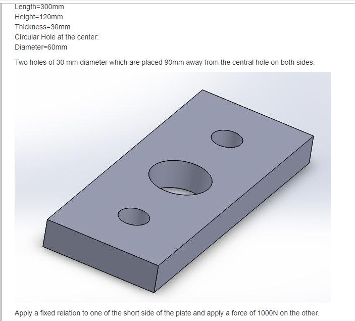 F E A Of Plate With Holes - Projects - Skill-Lync